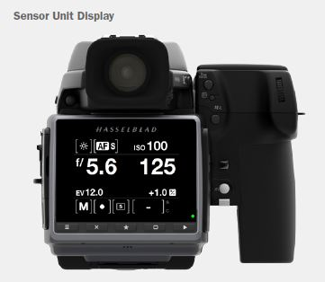 Sensor unit display Hasselblad H6D-100c 50c Body Only - Mediumformaat DSLR camera met wifi H-3013742 HS H6D 100c 50c full hd