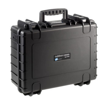 B&W Outdoor Cases Type 5000 zwart : plukschuim a